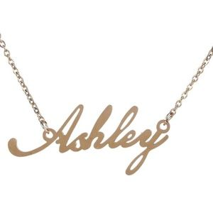 Jewelry - Ashley Gold Name Nameplate Necklace B25